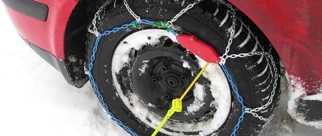 Cadenas de nieve para rueda del coche