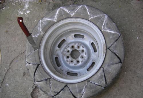 cortar-rueda-usada-macetas