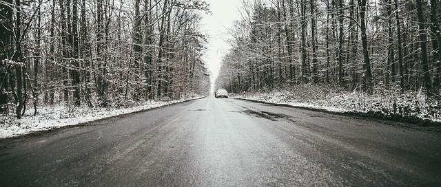 Conducir con placas de hielo